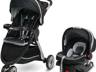 Graco FastAction Fold Sport Travel System   Includes the FastAction Fold Sport 3 Wheel Stroller and SnugRide 35 Infant Car Seat  Gotham