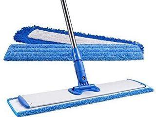 24  Professional Microfiber Mop   Stainless Steel Handle   Premium Mop Pads