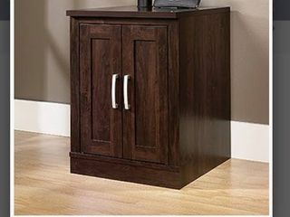 Sauder Office Port Utility Cart Stand in Dark Alder
