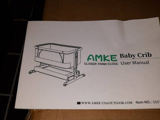 AMKE Adjustable Height Baby Crib