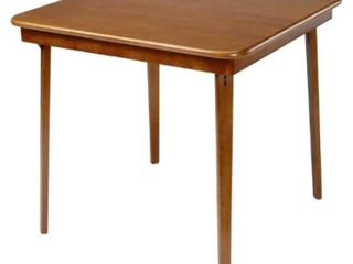 Straight Edge Folding Card Table Cherry   Stakmore