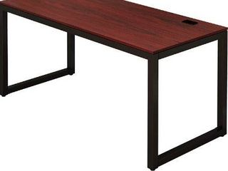 Shw Home Office 55 inch large Computer Desk  Espresso