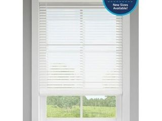 levolor Trim go 2 5 in Cordless White Faux Wood Room Darkening Blinds 42  X 48