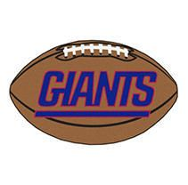 New York Giants Fan Mats Football Rug 35 x22