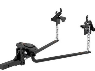 CURT 17007 Round Bar Weight Distribution Hitch  Up to 14K  2 Inch Shank