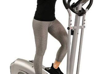 Sunny Health   Fitness SF E3607 Magnetic Elliptical Bike Elliptical Machine w  Device Holder  lCD Monitor and Heart Rate Monitoring