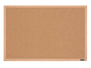 Quartet 23  x 35  Cork Bulletin Board Finish Frame   Oak