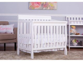 Dream On Me Aden 4 in 1 Convertible Mini Crib White