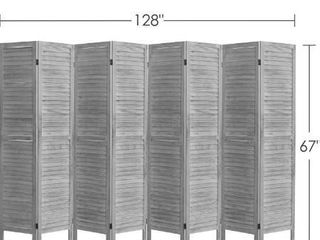 Rose Home Fashion RHF 8 Panel 5 6 Ft Tall Wood Room Divider  Wood Folding Room Divider Screens  Panel Divider Room Dividers  Room Dividers and Folding Privacy Screens  8 Panel coconut