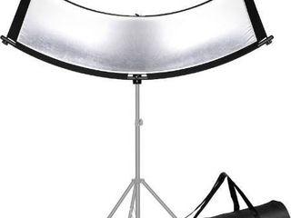Neewer Clamshell light Reflector Diffuser for Studio and Photography with Carry Bag  66x24 Inch Arclight Curved Eyelighter lighting Reflector  Black White Gold Silver  light Stand Not Included