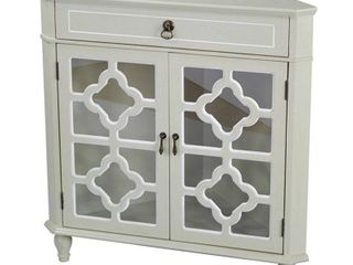 Alfred s Frasera Corner Cabinet w Glass  Wood stain