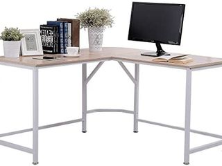 Topsky TS500004  Black w Oak Top l Shaped Desk