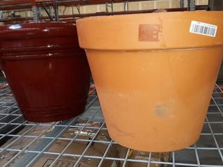 Pair of large Cracked Flower Pots