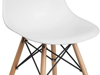 Flash Furniture White Seat Chair