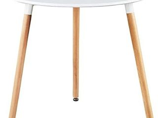 GreenForest 3 legged White Dining Table