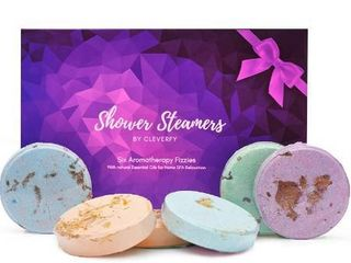 Cleverfy Aromatherapy Shower Steamers   Variety Set Of 6x Shower Bombs With Essential Oils For Relaxation  Shower Bomb Melts For Women Who Has Everything  Shower Steamer Tablets  Fizzies  For Home Spa One box of 48 packets