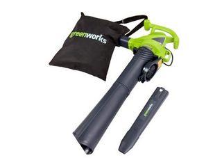 Greenworks 2 Speed 230 MPH Corded Blower Vacuum 24022