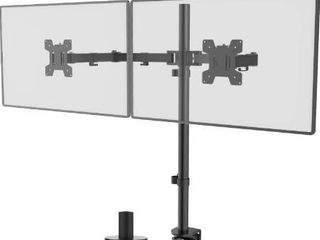 WAlI Extra Tall Dual lCD Monitor Fully Adjustable Desk Mount Fits 2 Screens up to 27 inch  22 lbs  Weight Capacity per Arm  M002Xl  Black
