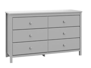 Storkcraft Alpine 6 Drawer Double Dresser Chest  Pebble Gray