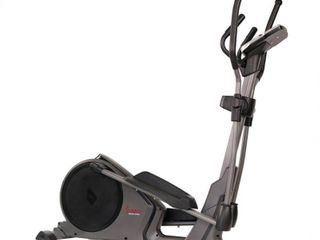 Sunny Health   Fitness Magnetic Elliptical Trainer Machine with Tablet Holder  Programmable Monitor and High Weight Capacity