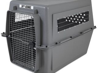 Petmate Sky Kennel for Pets from 90 to 120 Pound  light Gray