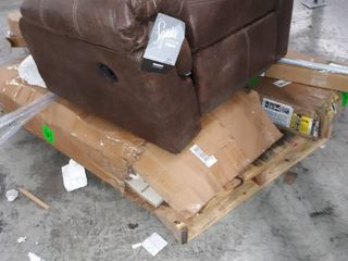 Wood Pallet of Cabinets Rocker light tubes etc