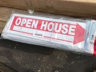 lot of six new open house yard sign as pictured attention Real Estate people