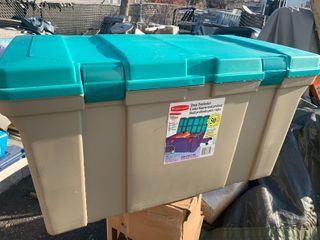 Nice heavy duty Rubbermaid storage bins
