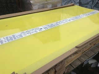 New 4x 8 sheet of clear plexiglass picture shows yellow that is just the protective film believe it is 1 8 inch thick