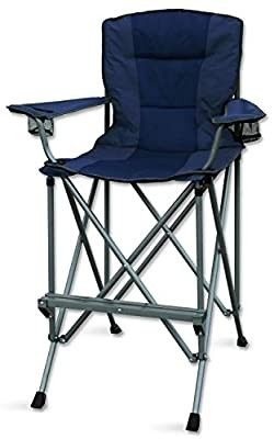 Rms Outdoors Extra Tall Folding Chair   Bar Height Director Chair For Camping