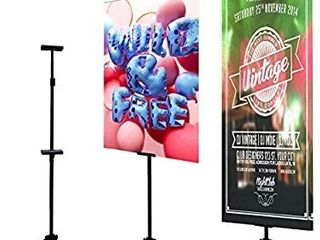 Double Easel Stand Floorstanding Sign Stand Poster Holder Tripod Poster Frame Double Sided Poster Stand Movie Poster Board