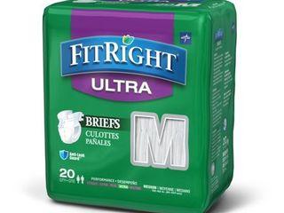 3  Medline FitRight Ultra Disposable Briefs  Medium 20 Count