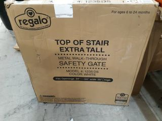 Regalo Extra Tall Top of Stair Gate  White