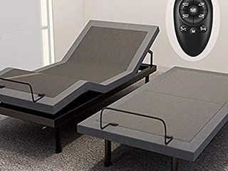 Adjustable Bed Base Frame Smart Electric Beds Foundation  Twin Xl  Gray