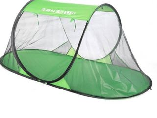 SANSBUG 1 Person Free Standing Pop Up Mosquito Net  Poly Floor