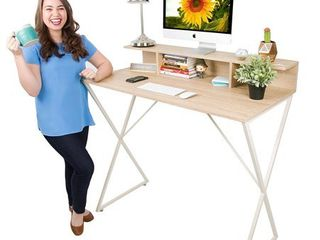 Joy Desk by Stand Steady   Modern Home Office Standing Desk Workstation with Storage Cubbies    47 5  x 41 5