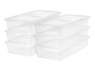 IRIS USA 41 Quart Underbed Storage latch Box  6 Pack