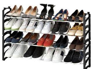 Seville Classics 4 Tier Expandable Stackable 20 Pair Shoe Rack Organizer