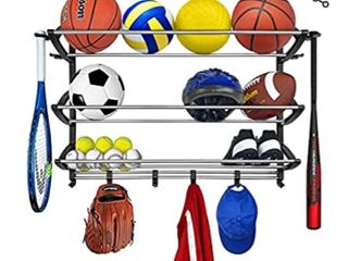lynk Sports Rack Organizer Gear Storage Black