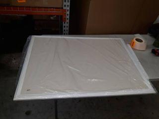 White framed bulletin board