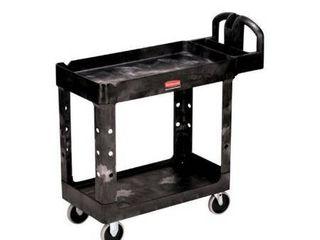 Rubbermaid 8916389 FG450027BlA Heavy Duty Utility Cart  Black   Small