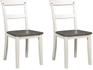 Signature Design By Ashley Nelling Dining Room Side Chair Set Of 2 Two tone