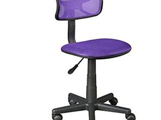Urban Shop Swivel Mesh Desk Chair  Purple