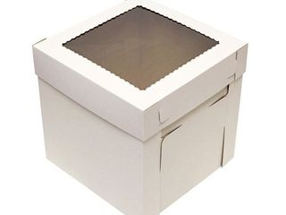 SpecialT Cake Boxes with Window 25 Pack 12a x 12a x 8a Inch White Bakery Boxes