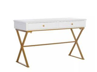 linon white campaign desk