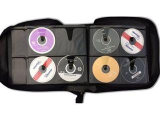 Ilogic 360 capacity Quality Compact Disc CD DVD Blu Ray Black Nylon Media Wallet Folder