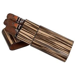 Visol Sawyer Zebrawood Cigar Case   3 Cigars