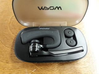 MPOW Bluetooth Headset 2 Mic Earpiece with CVC8 0 Noise Cancellation Wireless Headphone Earbud 10 Hrs Talk Time