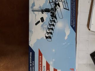 FiveStar Outdoor HDTV Antenna Up to 200 Miles long Range with 360 Degree Rotation  Remote Control Plus Installation Kit