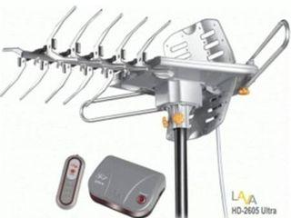 lAVA HD 2605 UlTRA UHF   VHF HDTV Antenna with Remote Control